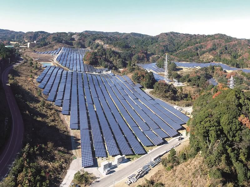 15.5 MW Solar park with Luxor Solar modules in Chiba (Japan)